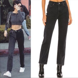 NWOT FREE PEOPLE Dakota Loose Black Straight Jeans